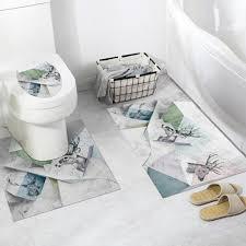PVC Bathroom Anti-skid 3D Self-adhesive DIY Waterproof Toilet ...