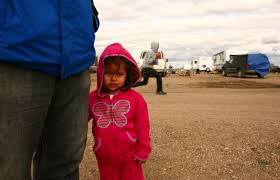 bakken boom to bust media distribution lebaron 2 her father at temporary housing for workers outside williston