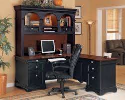 office desk awesome black corner office desk with having small decorative torchiere plus ornamental brown oriental rug integrate white doorway design awesome corner office desk