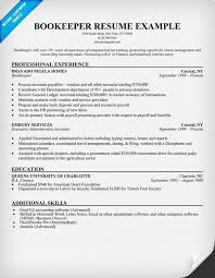bookkeeping sample resumes template bookkeeper resume examples