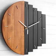 <b>Creative Wooden Wall</b> Clock Modern Design Vintage Rustic Shabby ...