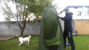 How to Fold <b>Portable</b> Privacy Pop up <b>Toilet</b> Tent - YouTube