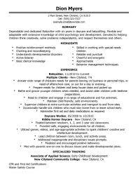 dedicated nanny resume format sample six years in daycare and dedicated nanny resume format sample six years in daycare and babysitting experience also specialized training