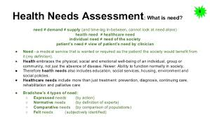 notes on public health health needs assessment