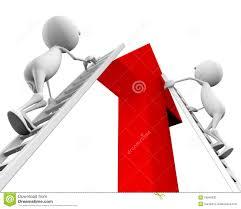 d people climb up the ladder on the arrow stock photo image 3d people climb up the ladder on the arrow