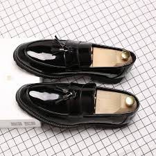 <b>LAISUMK</b> Classic Black Patent Leather Wedding Shoes <b>Mens</b> ...