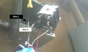 issue a definite purpose contactor and photo cell based on this could someone give me a wiring diagram i used wire 1 2 and 3 because there are 3 black wires coming from the load center