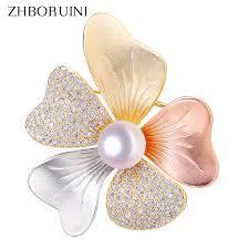 <b>ZHBORUINI 2019 Fine Italian</b> Technology Natural Freshwater Pearl ...