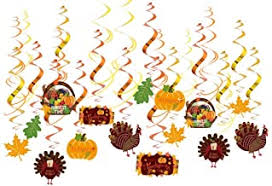 Buy sibina Particular <b>30Pcs Happy</b> Fall Yall Foil Swirls Decoration ...