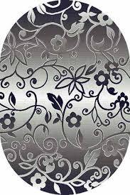 Купить Овальный <b>ковер SILVER D214 GRAY</b> по цене 580 руб. в ...