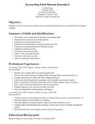 Sales And Experience As Retail Resume Examples  Accounting Clerk Resume Example With Summary Of Skills And Qualifications In Payment Reports     Rufoot Resumes  Esay  and Templates