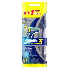 Buy <b>Gillette Blue Simple3</b> Men's Disposable Razors 5pcs Online ...
