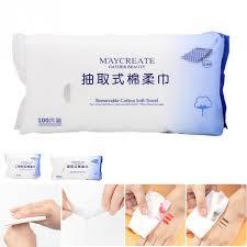 50/<b>100Pcs Disposable Face</b> Towel Cotton Fiber Facial Cleansing ...