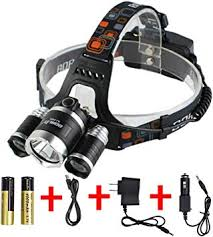 BORUIT 8000Lm 3 x CREE XM-<b>L2 LED</b> Rechargeable Headlight ...