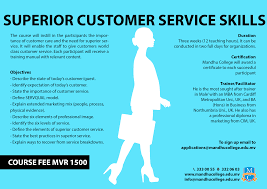 superior customer service skills