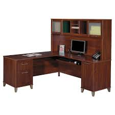 shape office desk bush l shaped desk with hutch bush home office furniture