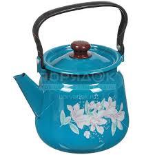 <b>Чайник эмалированный Сибирские</b> товары декор васильковый ...