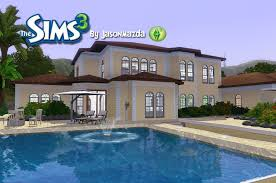 The Sims House Designs   Mediterranean Mansion   YouTube