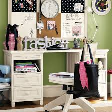 bedroom teen furniture ideas desk  girly bedroom with green and white