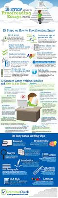 best images about essay writing writing an essay the 10 step guide to proofreading essays quickly infographic