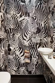 Квартира 125 кв.м.   <b>Zebra print</b> bathroom, Bathroom wallpaper ...