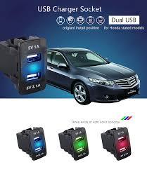 3.1A Car USB Charger <b>LED</b> Display Voltage Meter Cigarette Lighter ...