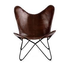 MH London Butterfly <b>Chair</b> - <b>Genuine Leather</b> I Handmade, Iron ...
