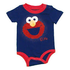 <b>Elmo</b> Face <b>Sesame Street</b> Cartoon Baby Creeper Romper Snapsuit ...