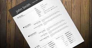 clean resume template    clean amp minimal resume template on    simple resume template resumes templates pixeden