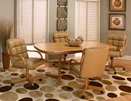 Dining Room Chairs With Arms And Casters Regal Bucket Seat Standard Dining Chair With Arms On Casters