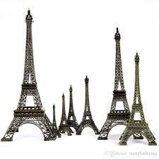 Metal Art Crafts Paris Eiffel <b>Tower</b> Model Figurine Zinc Alloy Statue ...