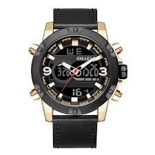 <b>SMAEL</b> Fashion <b>Men</b> Multifunction Week Alarm <b>Double</b> Display ...