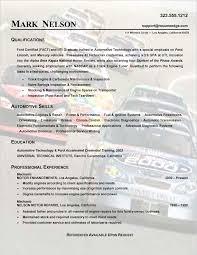 sample technical resume   auto mechanicsample technical resume