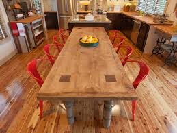 long wood dining table: how to build a reclaimed wood dining table