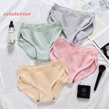 cutebuღ <b>Women Breathable</b> Seamless Briefs <b>Solid Color</b> Slimming ...