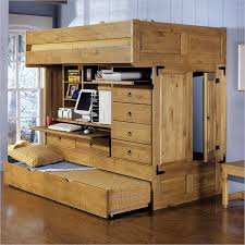 kids loft beds with desk underneath with wood childrens bunk bed desk full