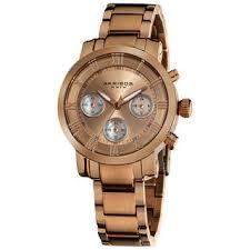 Shop Akribos XXIV <b>Women's</b> Rosetone Quartz <b>Chronograph</b> ...