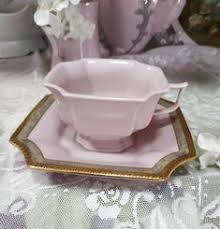 Vintage Pink Tea Cup with Soucer Empir H&C <b>Czech Republic</b> ...