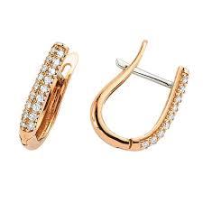 Купить <b>Серьги с 36</b> бриллиантами 0,30 ct 4/5 из розового золота ...