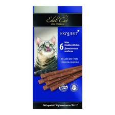 <b>Лакомство Edel Cat для</b> кошек, колбаски, лосось, форель, 6шт.*5 г