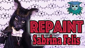 Doll Repaint: Sabrina Felis, The <b>Gothic cat</b> girl - YouTube