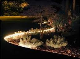 decorative concrete curbing with lighting kit area lighting flower bed