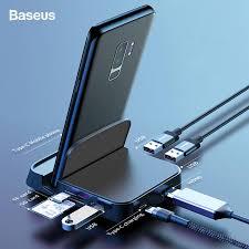 <b>Baseus</b> USB <b>Type C HUB Docking</b> Station For Samsung S10 S9 ...