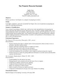 sample resume tax preparer tax preparer resume example tax sample resume