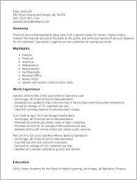 professional financial service representative templates to    resume templates  financial service representative