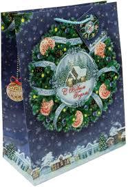 """<b>Пакет подарочный</b> Magic Time """"Новогодний венок"""", <b>33 х 45</b>,7 х 10 ..."""