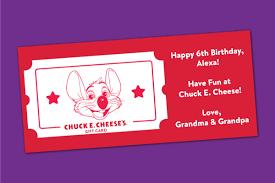 Purchase a Chuck E. Cheese Gift Card