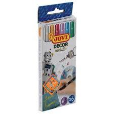 """Набор <b>маркеров</b> для декорирования """"<b>Décor metalic</b>"""", 2 мм, 6 цветов"""