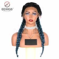 EEWIGS <b>Dark Blue</b> Wig <b>Natural</b> Wave High Temperature Fiber Hair ...