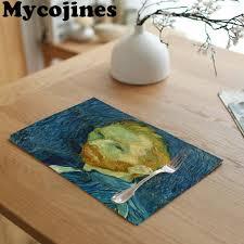 Van Gogh <b>Paintings</b> Tablecloth Star Moon Night Iris <b>Flower</b> ...